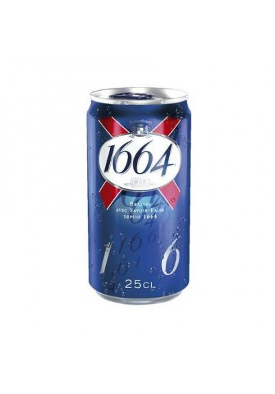 Bière Blonde KRONENBOURG 1664 Pack Boîtes 24x25cl
